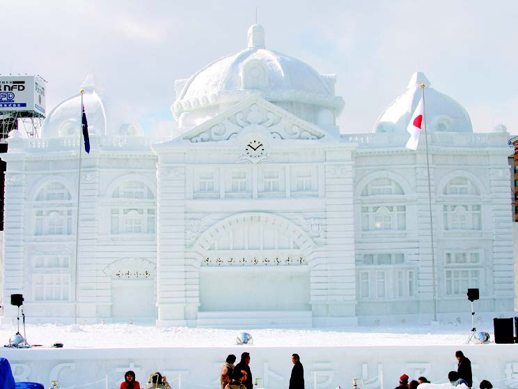 An international festival now in its 66th year, it features enormous and breathtaking snow statues on display in Odori Park in Sapporo, Hokkaido.
