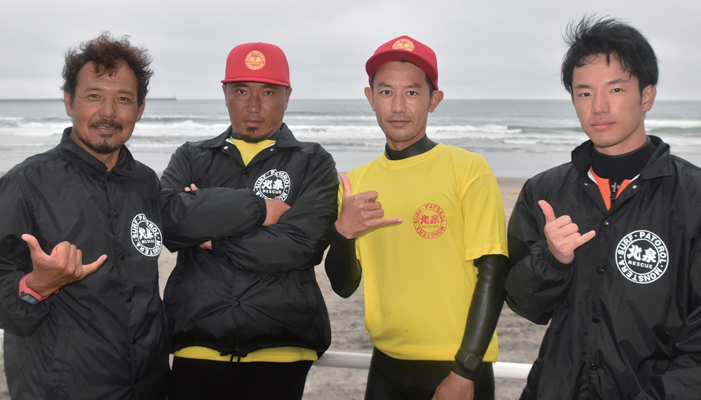 Nagasawa Fumiaki (left) returned to Fukushima to ensure the safety of his beloved Kitaizumi beach (©THE SURF NEWS)