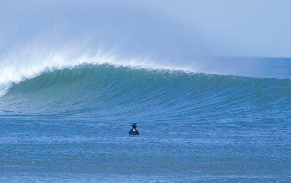 Plentiful surf with no crowds. Welcome to Fukushima. (©Kiyomi Igari)