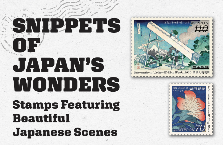 Snippets of Japan's Wonders Stamps Featuring Beautiful Japanese Scenes
